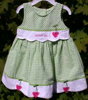 """""""Youngland""""  Infant Summer Dress Size 18mos. Green"""