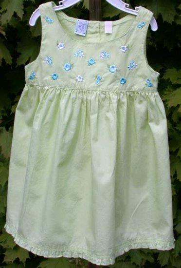 """""""Little by Little"""" Toddler Summer Dress 2T Green"""