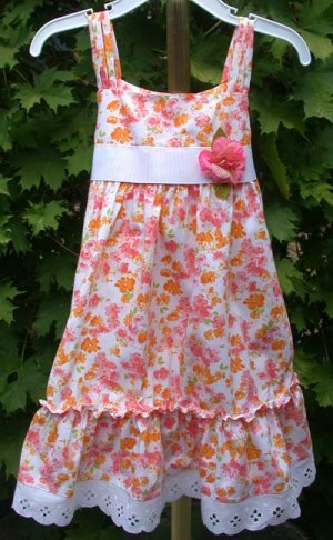 Toddler Dress Joni Michelle Size 3T Multi-Colored Flowers