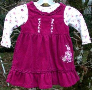 Infant Disney Dress Size 24mo  Deep Pink