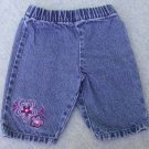 "Koala Kids Infant blue Denim Jeans ""Cutie"" on the Back Size 3-6M"