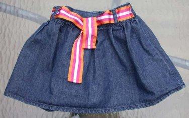 Infant Belted Blue Denim Skirt Size 24 Mos. Carter's