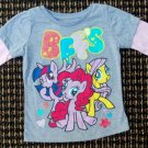 "Long-Sleeved Shirt Gray with Pink Sleeves""My Little Pony BFFS"" 2T"