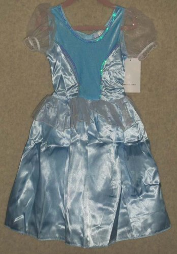"""Cinderella Party Dress Dress-up """"Satin"""" Sequins and Velour Size 4"""