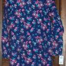 Oshkosh Girls Knit Tunic Top Size 14 Navy Blue Background w/Pink and Light Blue