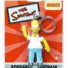 SIMPSONS-HOMER BENDABLE POSEABLE FIGURE KEYCHAIN