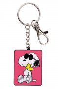 PEANUTS-JOE COOL AND WOODSTOCK ENAMEL KEYCHAIN