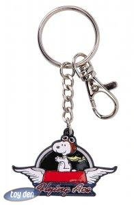 PEANUTS-SNOOPY FLYING ACE ENAMEL KEYCHAIN