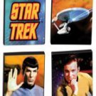 STAR TREK  SET of  4  Tile MAGNETS