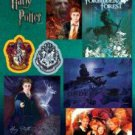 HARRY POTTER - SHEET SET OF  7 MAGNETS
