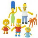 SIMPSONS-SET of (5) BENDABLES BOX SPRINGFIELD FAMILY