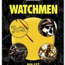 WATCHMEN MOVIE-WHO WATCHES THE WATCHMEN 4 Piece PIN SET