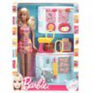 Barbie Doll and Kitchen Accessory Set by Mattel