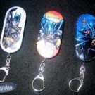 BATMAN - Set of 3 BACKPACK TINS  with KEYCHAIN