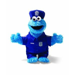 SESAME STREET -  ELMO  NYC Policeman 14 inch Plush by Gund