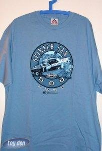 T-SHIRT - POPEYE LICENSED  -  POPEYE SPINACH CAN 1957 CHEVY TEE