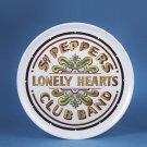 """BEATLES - BEATLES DRUM HEAD 14""""  ROUND TRAY by Kurt Adler"""