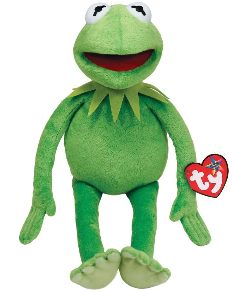 TY Beanie Buddy MUPPETS KERMIT the Frog