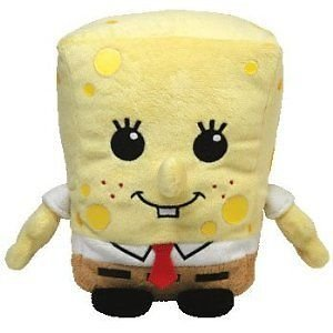 Ty Pluffies - Spongebob Squarepants with Sewn Eyes Plushie