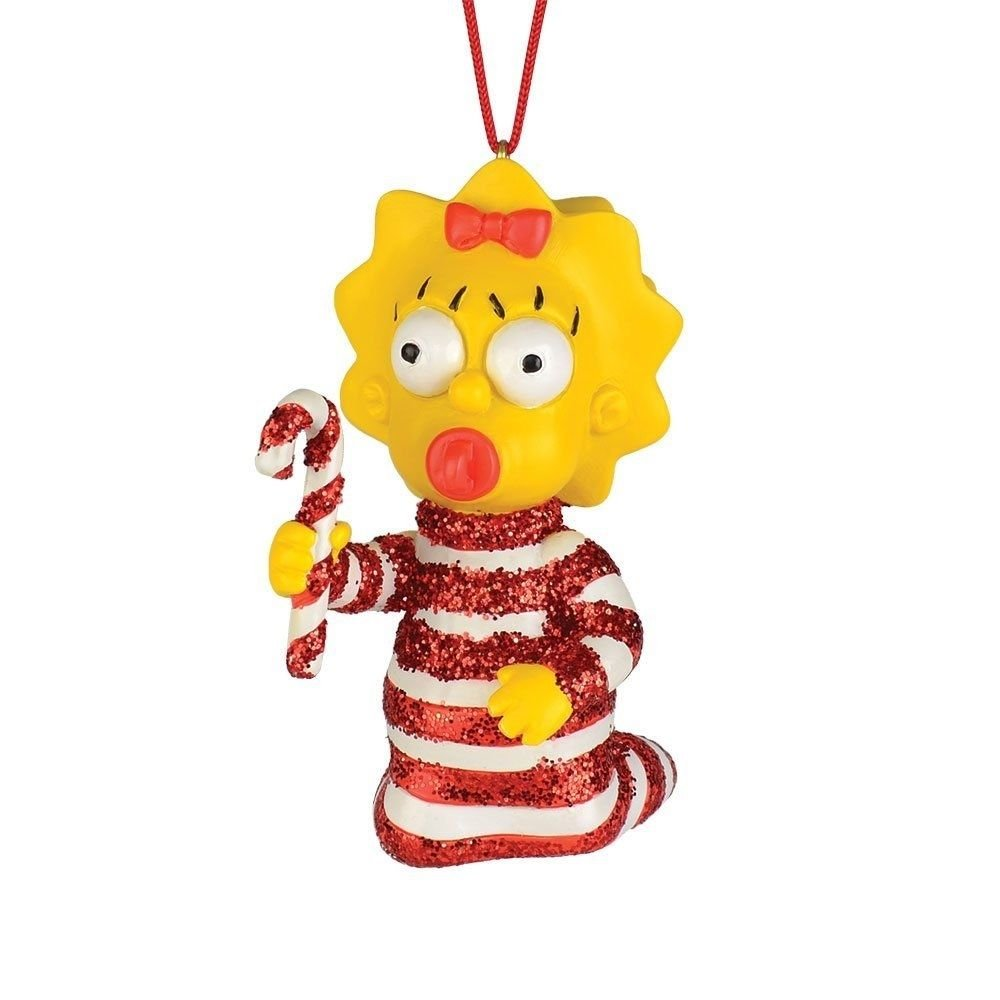 SIMPSONS-MAGGIE CANDY CANE ORNAMENT BY DEPT. 56