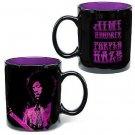 Jimi Hendrix Ceramic Mug, Purple Haze, Black/Purple, 12-Ounce by Vandor