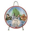 WIZARD OF OZ 75TH ANNIVERSARY COLLECTOR PLATE WITH DECORATIVE STAND BY JIM SHORE