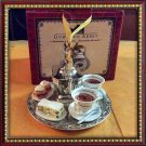 DOWNTON ABBEY TEAPOT SET ON A TRAY ORNAMENT