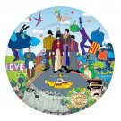 "BEATLES YELLOW SUBMARINE 10 1/2"" MELAMINE PLATE"