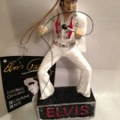 ELVIS PRESLEY-WHITE JUMPSUIT WITH MICROPHONE ON STAGE SHOW ORNAMENT