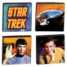 STAR TREK 4 piece TILE MAGNET SET