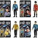 Star Trek-ReAction Series 1  Set of (4)Action Figures Spock, Sulu, Uhura, Bones