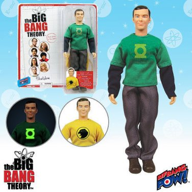 Big Bang Theory Sheldon Green Lantern and Hawkman T-Shirts 8-Inch Action Figure