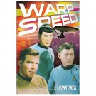 STAR TREK LARGE WARP SPEED TIN SIGN POSTER