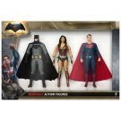 Batman vs. Superman: Dawn of Justice Bendable Action Figure Set of 3 Boxed