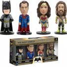 Batman v Superman-Dawn of Justice 4 mini Wacky Wobbler Bobble Heads in Box Set