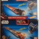 Hot Wheels Star Wars Blast & Battle Lightsaber Launcher Set of 2 Boxes
