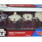 Hot Wheels Star Wars Hero Starship 4-Pack Boxed Set
