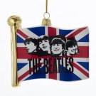 "The Beatles - Beatles 4.5""  Jack Flag Glass Ornament"
