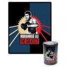 """Muhammad Ali """"The Greatest"""" Fleece Throw in Gift Tin"""