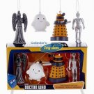 Dr. Who - Doctor Who 2D assorted set of 4 Ornaments in Gift Box
