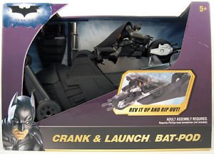 Batman Dark Knight - Crank & Launch Bat-Pod with Batman Figure