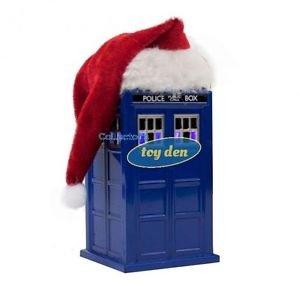 Dr. Who - Doctor Who LED TARDIS w/Plush Santa Hat Ornament