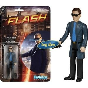 "DC Comics - The Flash TV Captain Cold ReAction 3 3/4"" Retro Action Figure"