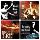 Bruce Lee - 4 Piece Wood Coaster Set