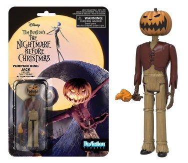 "Nightmare Before Christmas - Pumpkin Jack ReAction 3 3/4"" Retro Action Figure"
