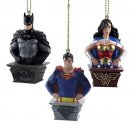 DC Comics - Set of 3 SuperHero (Wonder Woman, Superman, Batman) Ornaments