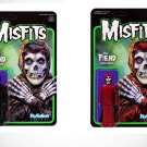 Misfits Midnight Black & Crimson Red 2 ReAction 3 3/4-Inch Retro Action Figures