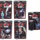 ALIEN - Set of 5 pieces ReAction 3 3/4-Inch Retro Action Figures