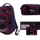 Captain America: Civil War Canvas Backpack, Toiletry Bag, and Wallet 3 pc. Set