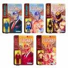 Legends LUCHA LIBRE - Set of 5 pieces ReAction 3 3/4-Inch Retro Action Figures